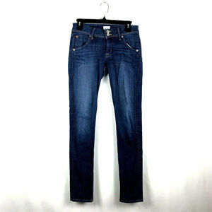 Hudson Colin Flap Skinny Jeans Blue Womens Size 27